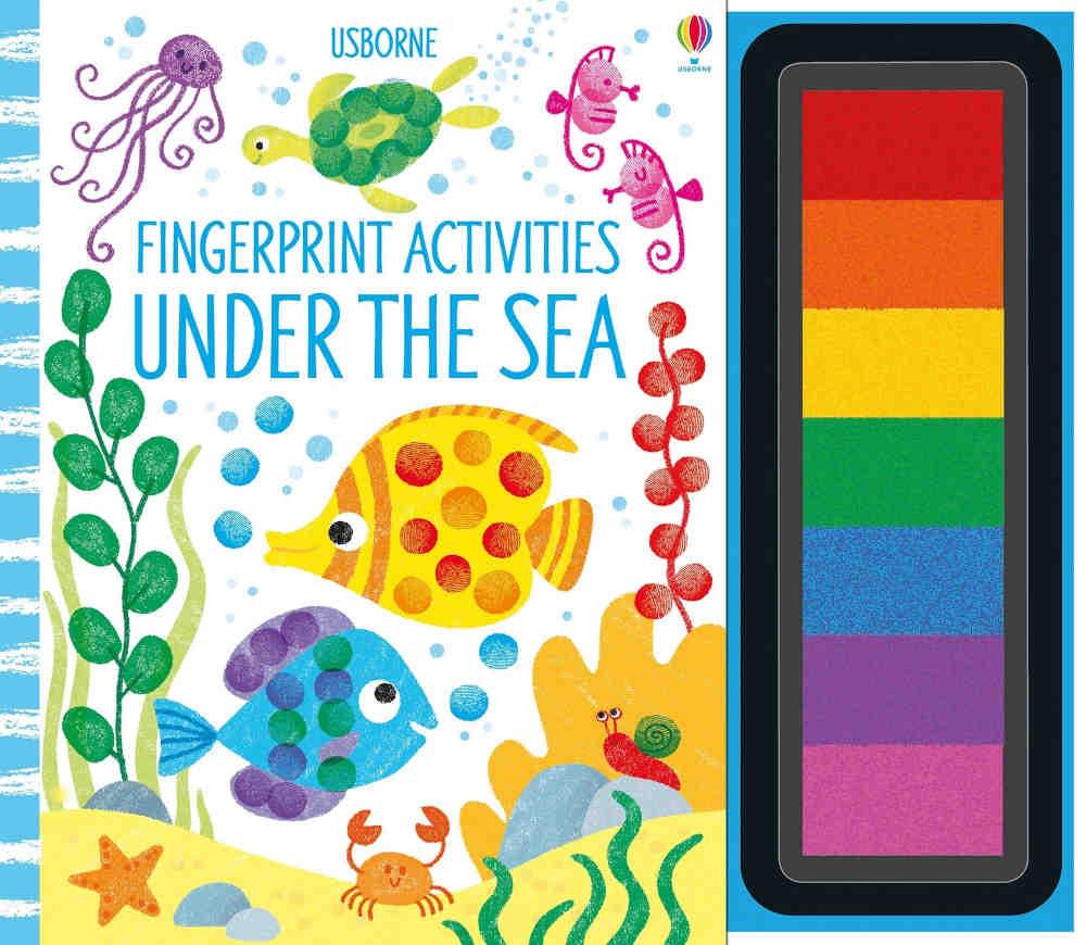 książka kreatywna z zadaniami tusze i odciski palców dla dzieci