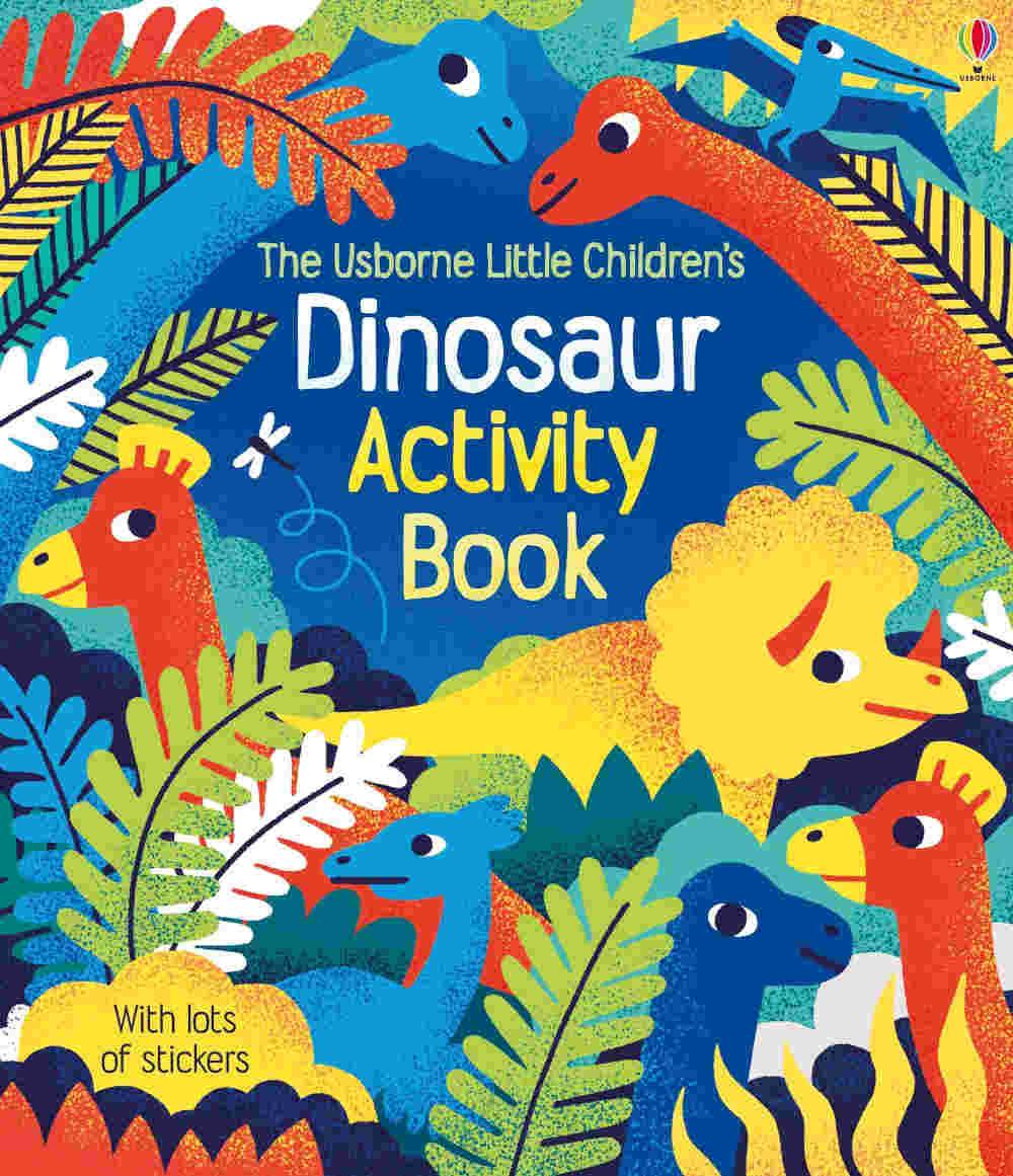 dinozaury ksiązki z zadaniami i naklejkami po angielsku