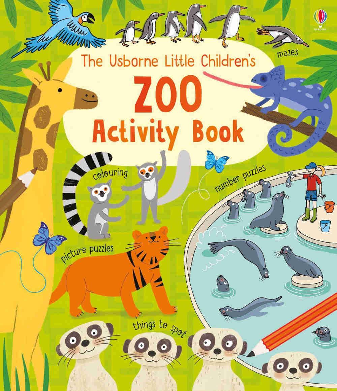 zoo książka z zadaniami dla dzieci i łamigłówkami po angielsku